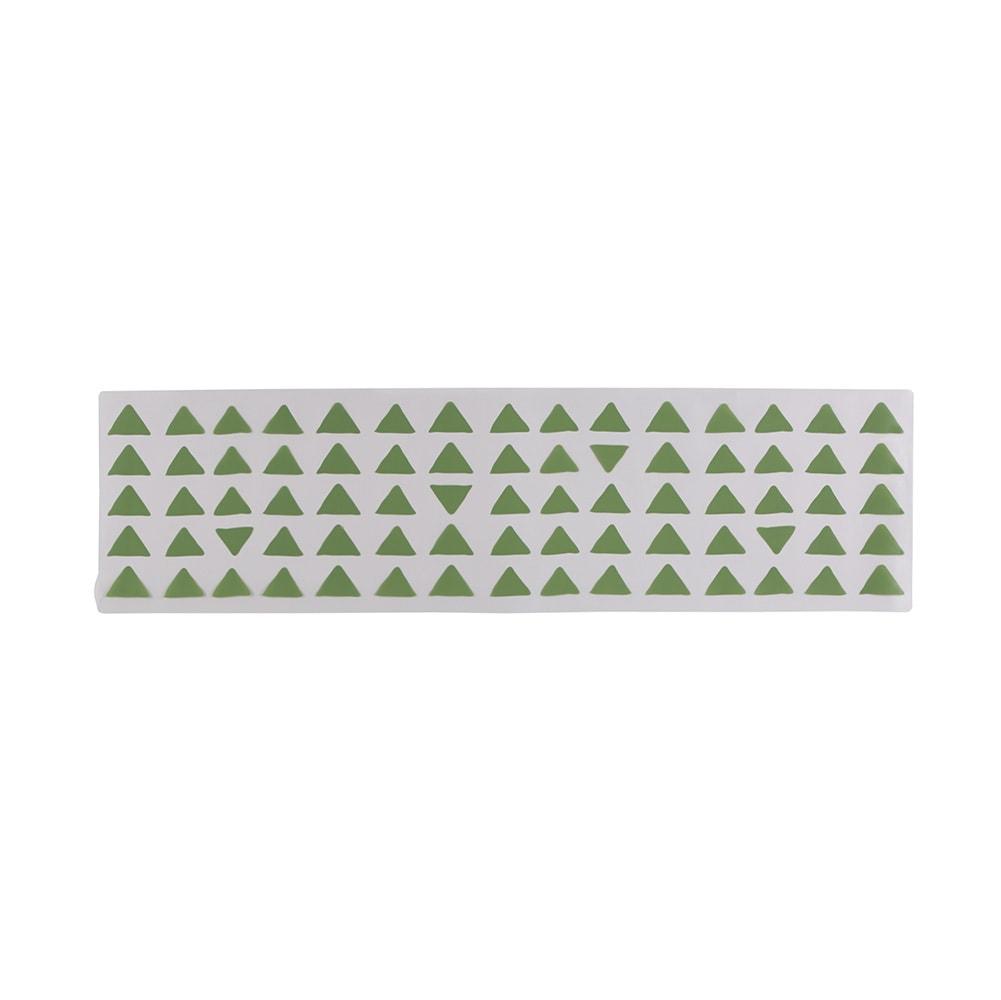 KOLMIO/コルミオ 透明キッチンマット (ウ)グリーン 画像は180cmです。※サイズによって柄の出方が異なります。
