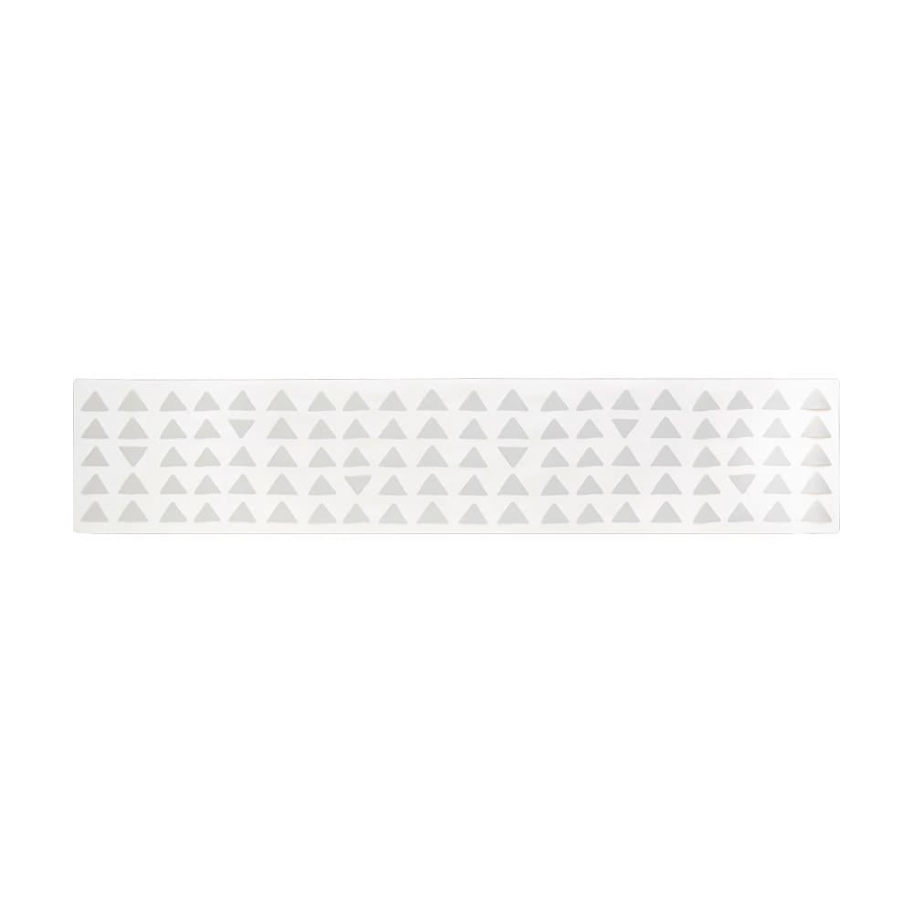 KOLMIO/コルミオ 透明キッチンマット (イ)ライトグレー 画像は240cmです。※サイズによって柄の出方が異なります。