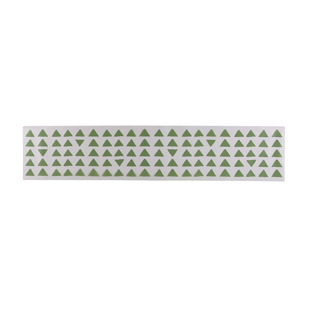 KOLMIO/コルミオ 透明キッチンマット (ウ)グリーン 画像は240cmです。※サイズによって柄の出方が異なります。
