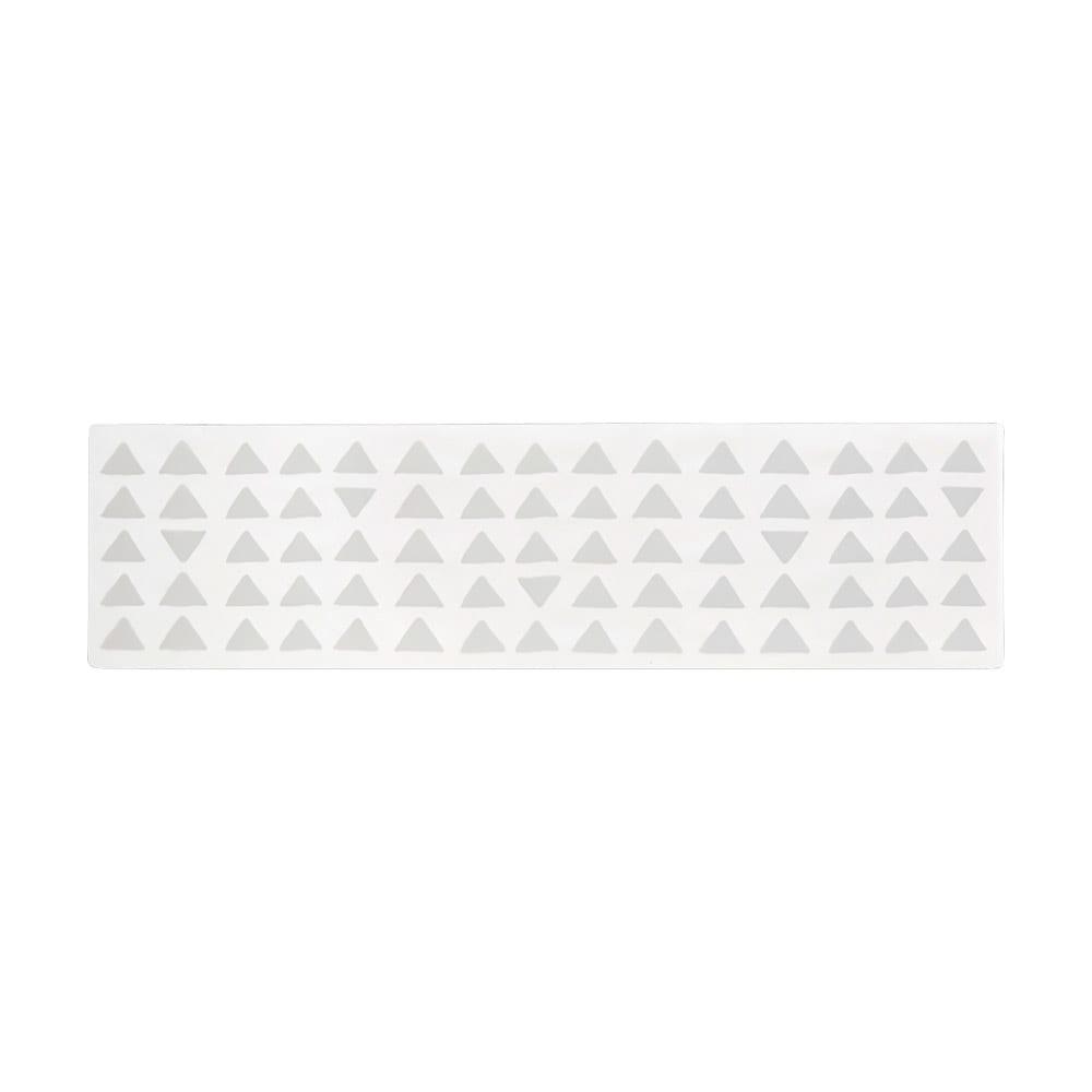 KOLMIO/コルミオ 透明キッチンマット (イ)ライトグレー 画像は180cmです。※サイズによって柄の出方が異なります。