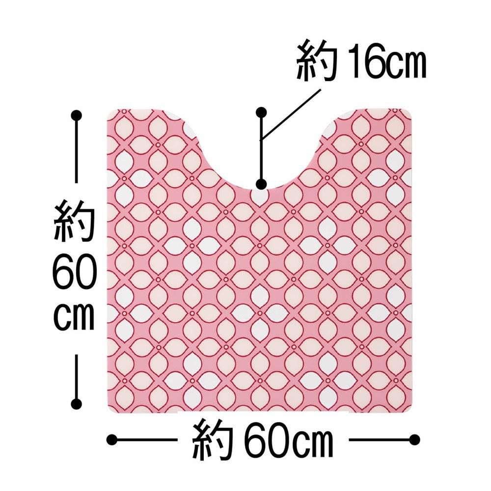 プリントトイレマット〈ライラック〉 (イ)ピンク系 ※写真は普通判サイズです。