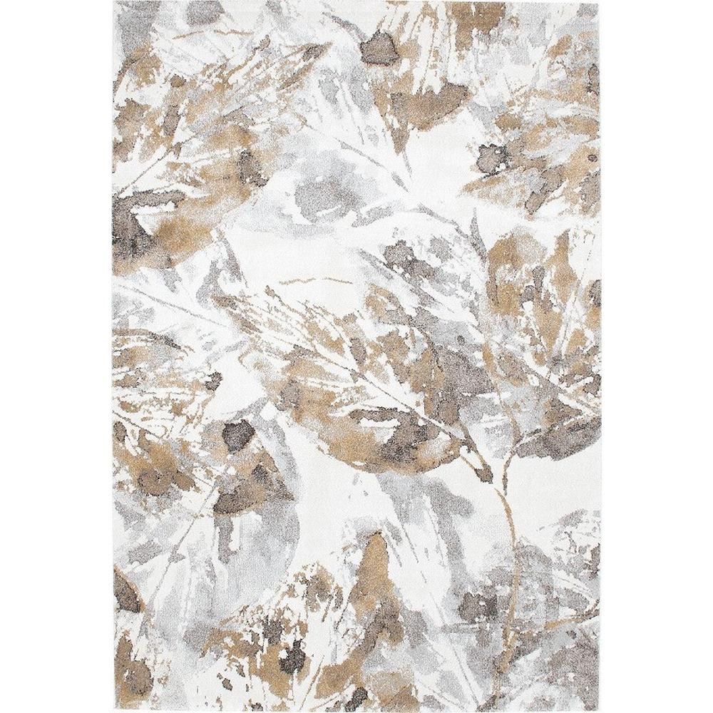 Leafy/リーフィー ウィルトン織ラグ (イ)ゴールド