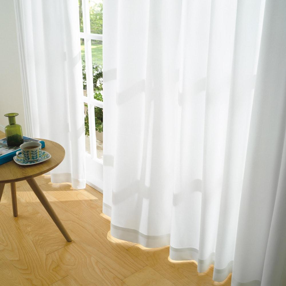 新ウェーブロン(R)使用レースカーテン(2枚組) 【幅100×丈176cm・幅100×丈198cm】