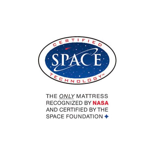 テンピュール(R) トラディショナルピロー NASA認定のクオリティ。テンピュール(R)は米国宇宙財団より「認定技術」ロゴの使用を許された唯一のマットレス&ピローメーカーです。