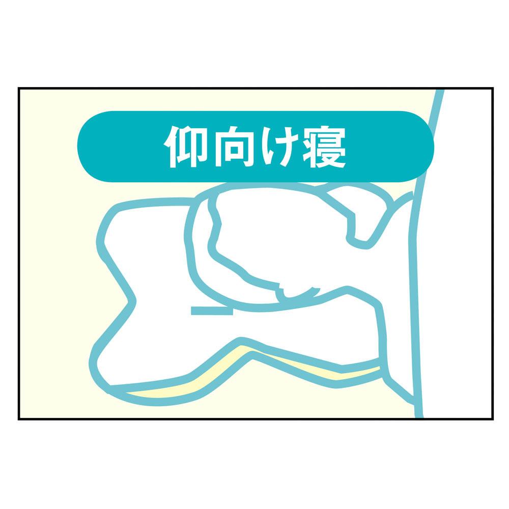 テンピュール(R) オンブラシオピロー 手前のくぼみが首にフィット。左右のでっぱりが肩をやさしく支えます。