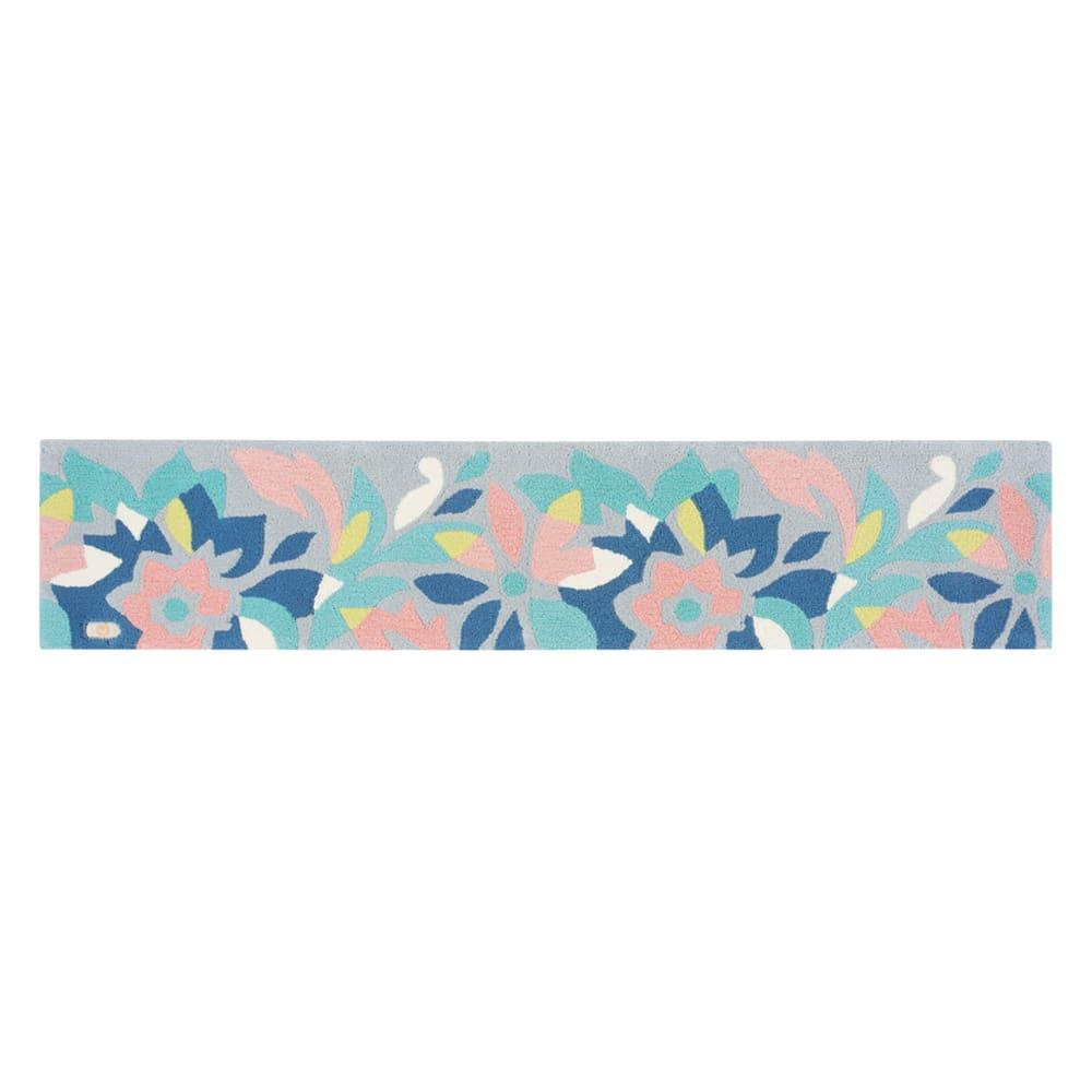 ミラ・ショーン ルームマット〈ペタロ〉 (イ)グレー系 ※写真は約50×240cmタイプです。