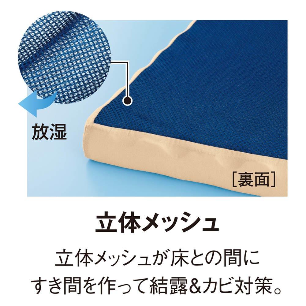 シングル(高硬度・軽量・除湿!ブリヂストンの選べる3つ折りマットレス 寝心地UPタイプ 厚さ4cm) 全タイプ共通 湿気対策
