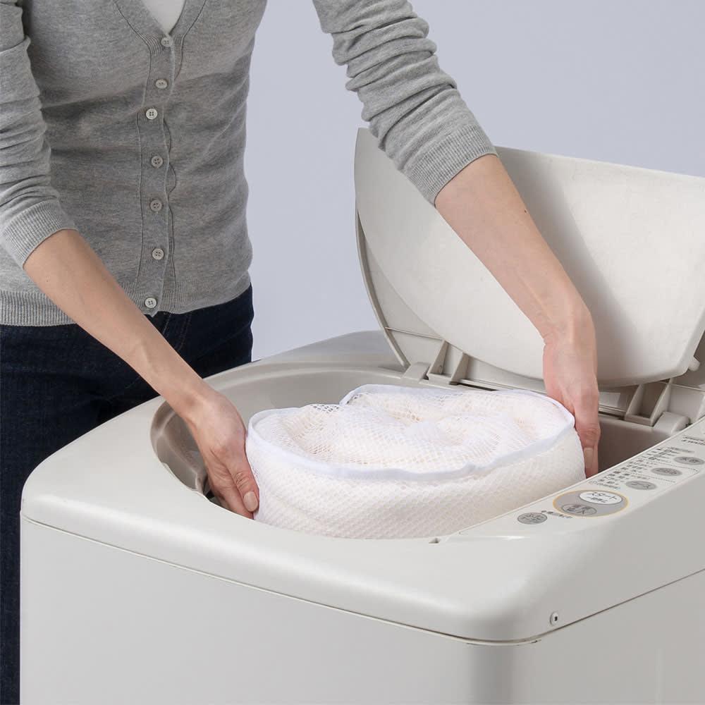 【2018年モデル】オーガニックコットンのナガークールシリーズ 敷きパッド ご自宅での洗濯(ネット)が可能です。