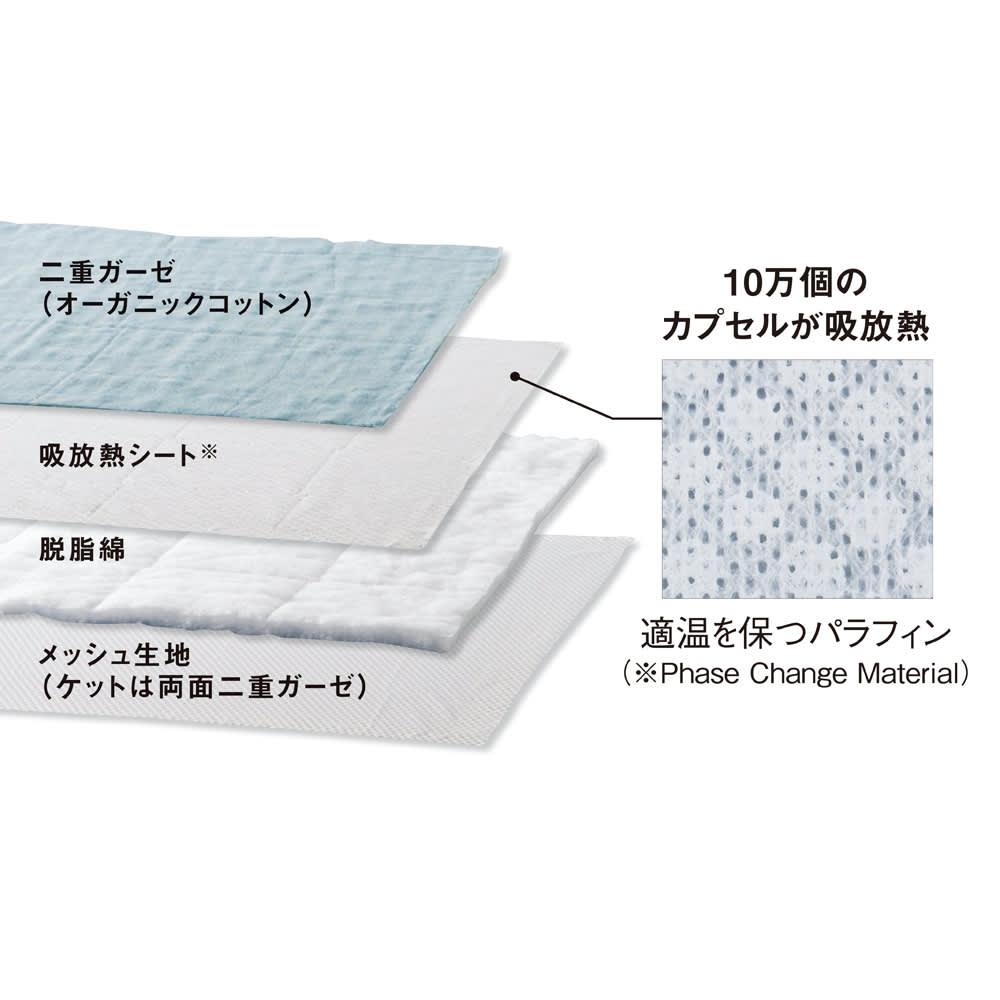 【2018年モデル】ナガークールシリーズ 麻+オーガニックコットン平織り 敷きパッド ひんやり構造の秘密