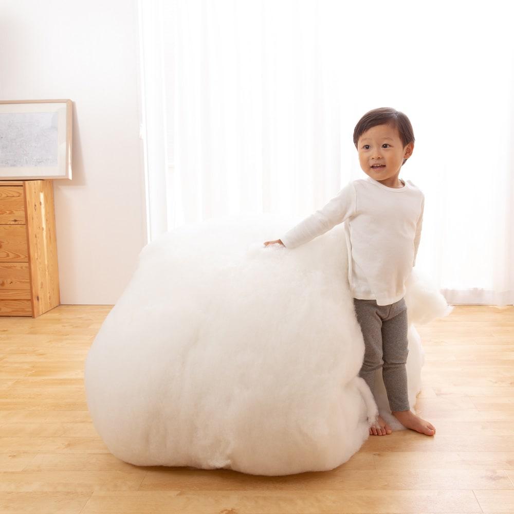 お得なファミリー寝具セット幅240cm [抗菌コンパクト&ワイド 敷布団]マットレスにこんだけ綿が入っています。