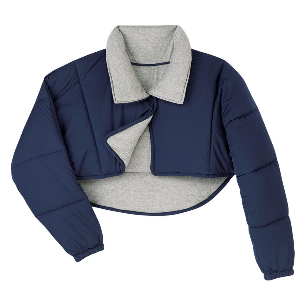 バージョンアップしました!昨冬人気のテイジンV-Lap(R)使用 着る布団シリーズ 肩カバー (ア)ネイビー