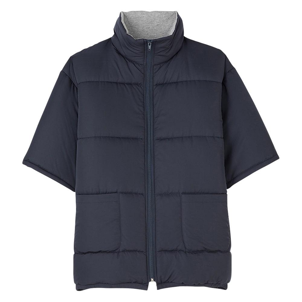 バージョンアップしました!昨冬人気のテイジンV-Lap(R)使用 着る布団シリーズ ロングポンチョ (ア)ネイビー