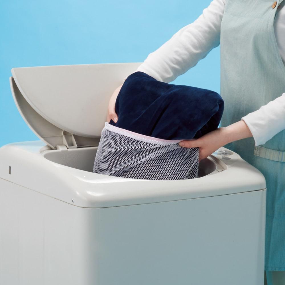 布団を包めるなめらか毛布シリーズ リバーシブル敷きパッド 洗える 洗濯機で丸洗いできるので、毎日清潔に使えます。
