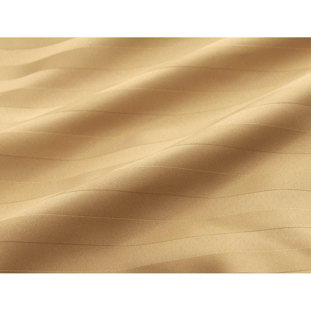 ホコリが出にくい防ダニ高密度生地使用国産こたつ敷き(厚さ約3cm) (イ)イエロー 細い糸で高密度に織り上げたストライプ柄サテン生地を使用。
