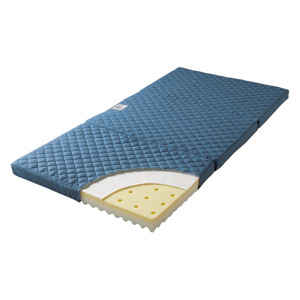 【アキレス×dinos】硬さが選べる3つ折りマットレスシリーズ 調湿タイプ ソフト 厚さ5cm [調湿タイプ(ハード・ソフト) ]シリカゲルの調湿くん(R)がパワフル吸湿! さらに汗臭や加齢臭の原因物質も吸着し、サラサラ&爽やか。ハードとソフトから硬さが選べます。