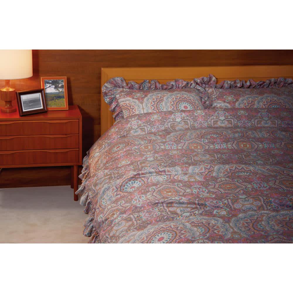 マテリオーネ サテン織りピローケース 普通判 (ア)ピンク系 商品はピローケースになります。