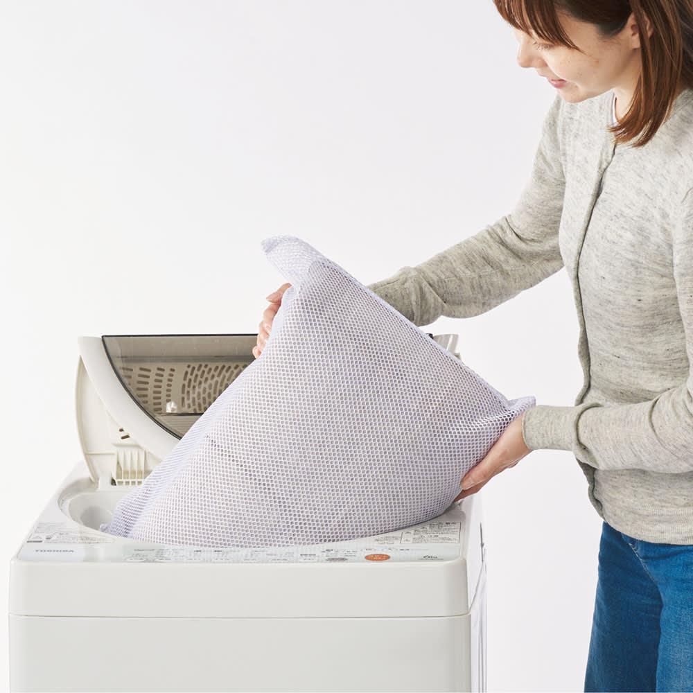 魔法の敷き寝具シリーズ 爽やかリネン 敷きマット 敷きマットは洗濯機で洗えます。