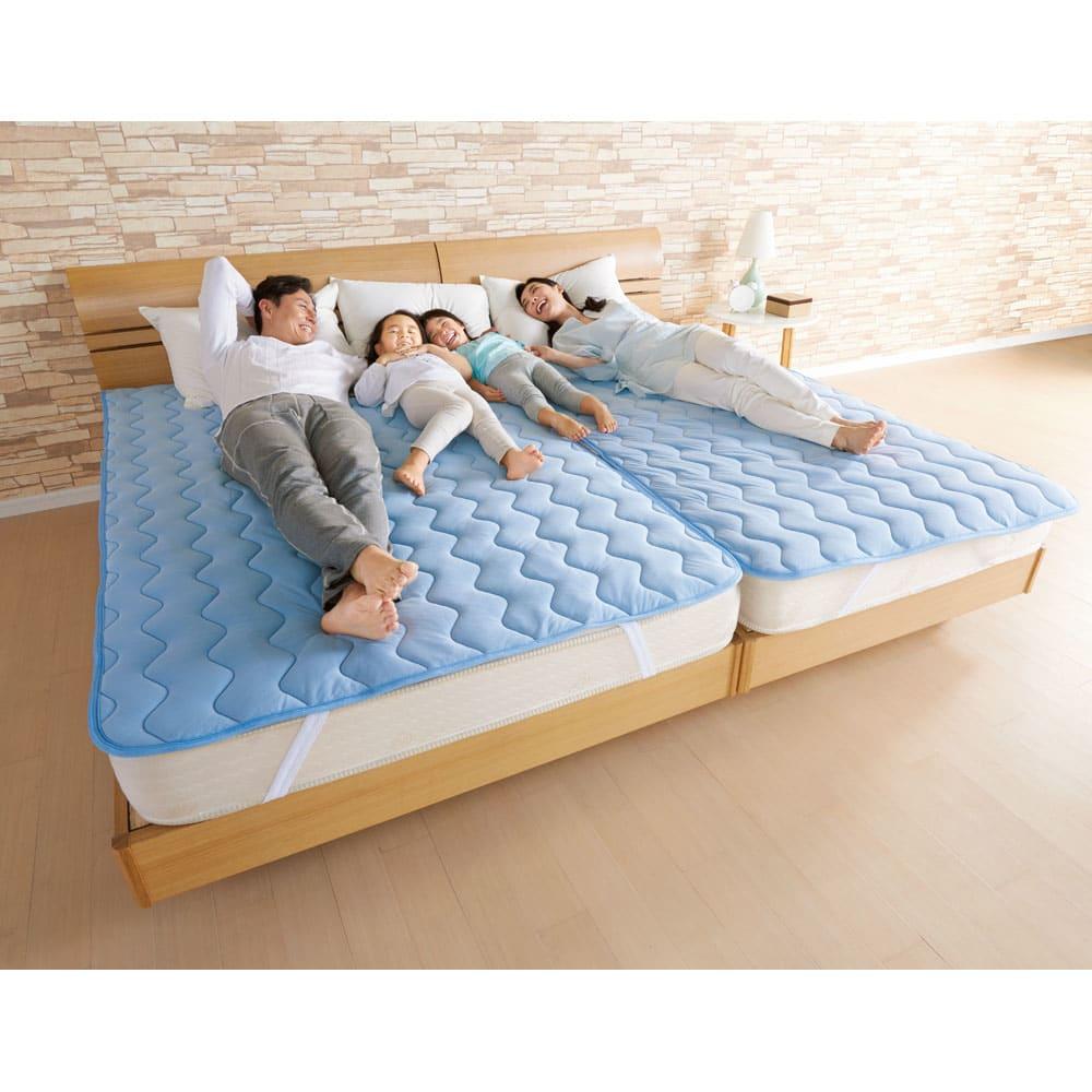 家族の寝具のニオイ対策に!フレッシュ&ドライ消臭除湿敷きパッド 敷きパッド (ア)ブルー