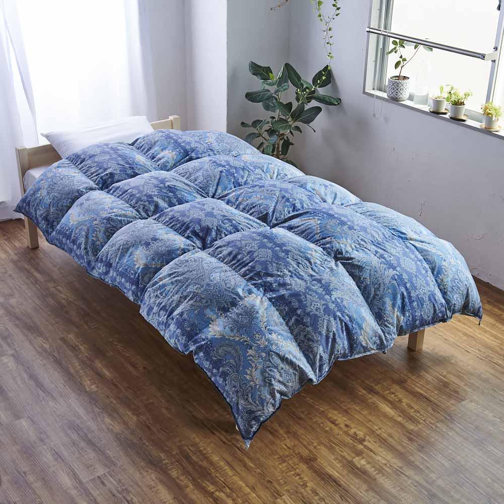 バーゲン寝具シリーズ 羽毛布団(羽毛増量タイプ) シングルロング2枚組