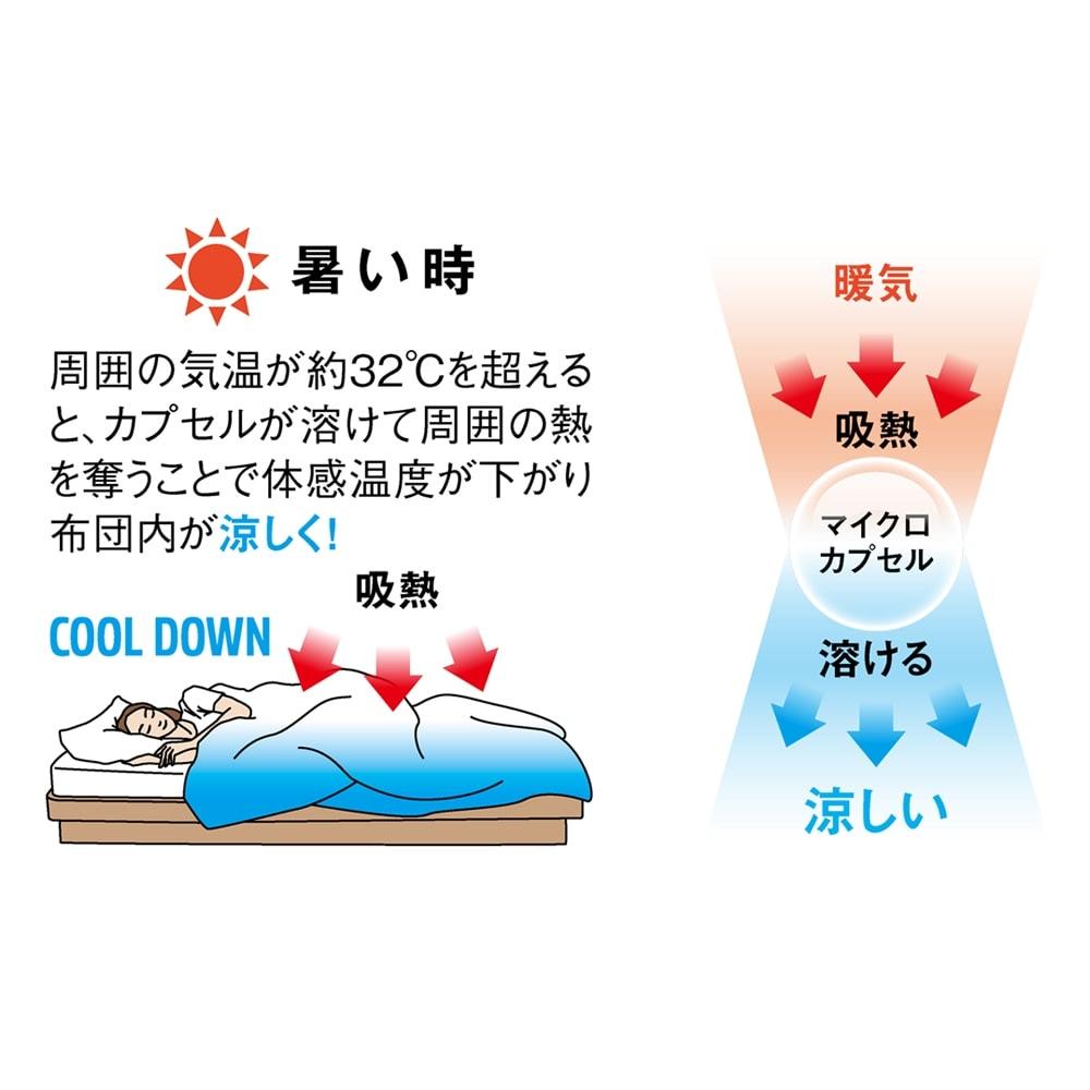 1年中使えるふんわりニットの調温シーツ&カバー ピローケース(同色2枚組)
