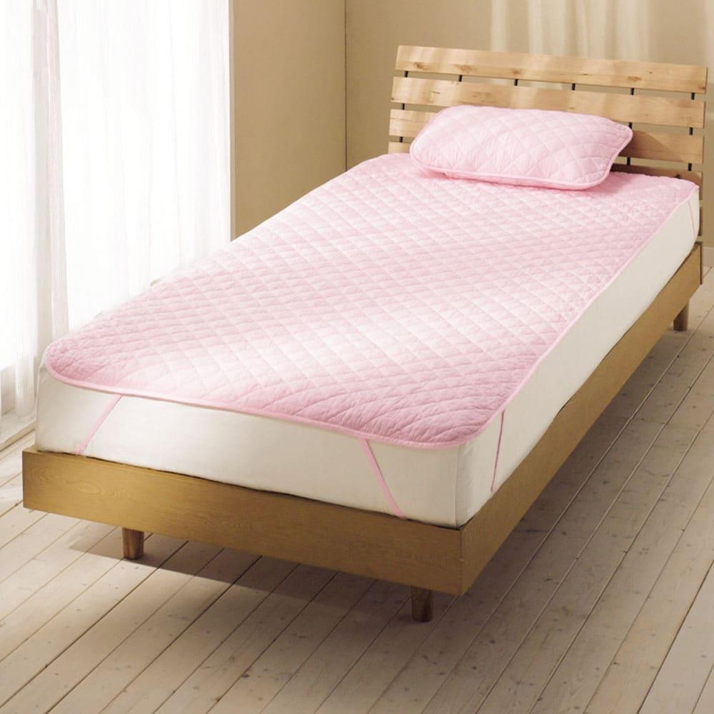 ダイヤキルト パシーマ(R)EXシリーズ パッドシーツ(セミシングル~クイーン) (ウ)ピンク ※お届けはパッドシーツです。写真はシングルロングです。