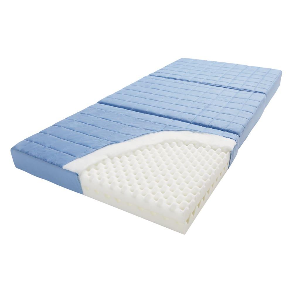 除湿・軽量・寝心地にこだわった3つ折バランス硬質マットレス 厚さ12cm(2層式) 除湿も寝心地も同時に叶える機能派マットレス。