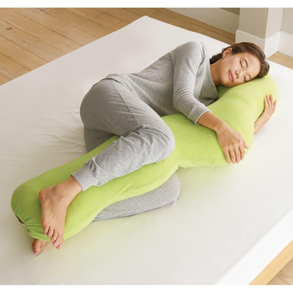 岡山県立大学とコラボ! 睡眠モードに切り替える 魔法の抱き枕(R)本体 (ウ)グリーン