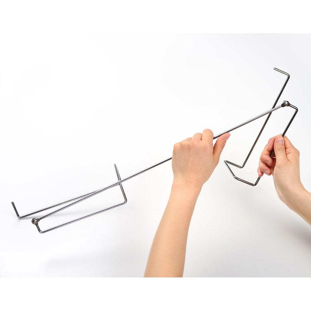 ステンレス製 コンロすきまラック 組立方法(1)