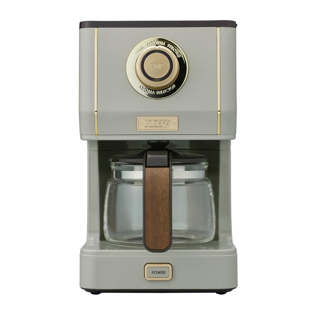 Toffyアロマドリップコーヒーメーカー グレージュ