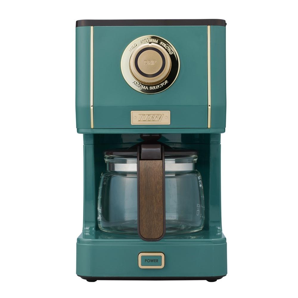 Toffyアロマドリップコーヒーメーカー スレートグリーン