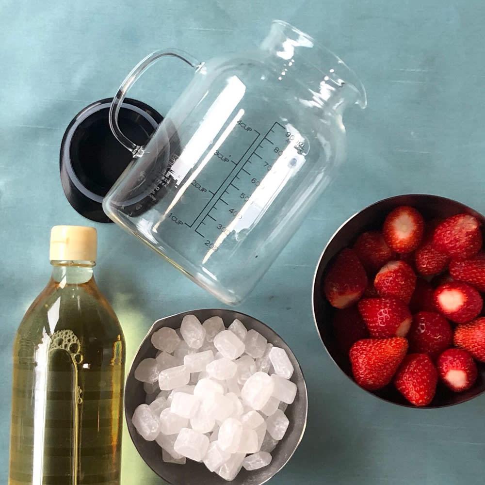 HARIO/ハリオ ビネガーズ フルーツポット2個組 1000ml 材料は、フルーツと・砂糖(はちみつ)・お酢だけ!