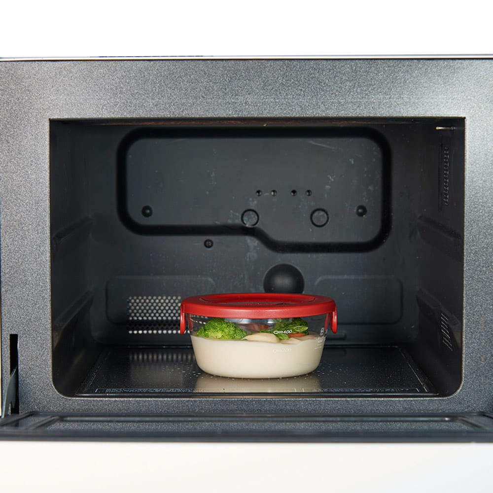 HARIO ハリオ 耐熱ガラス保存容器 丸型 同色6個セット