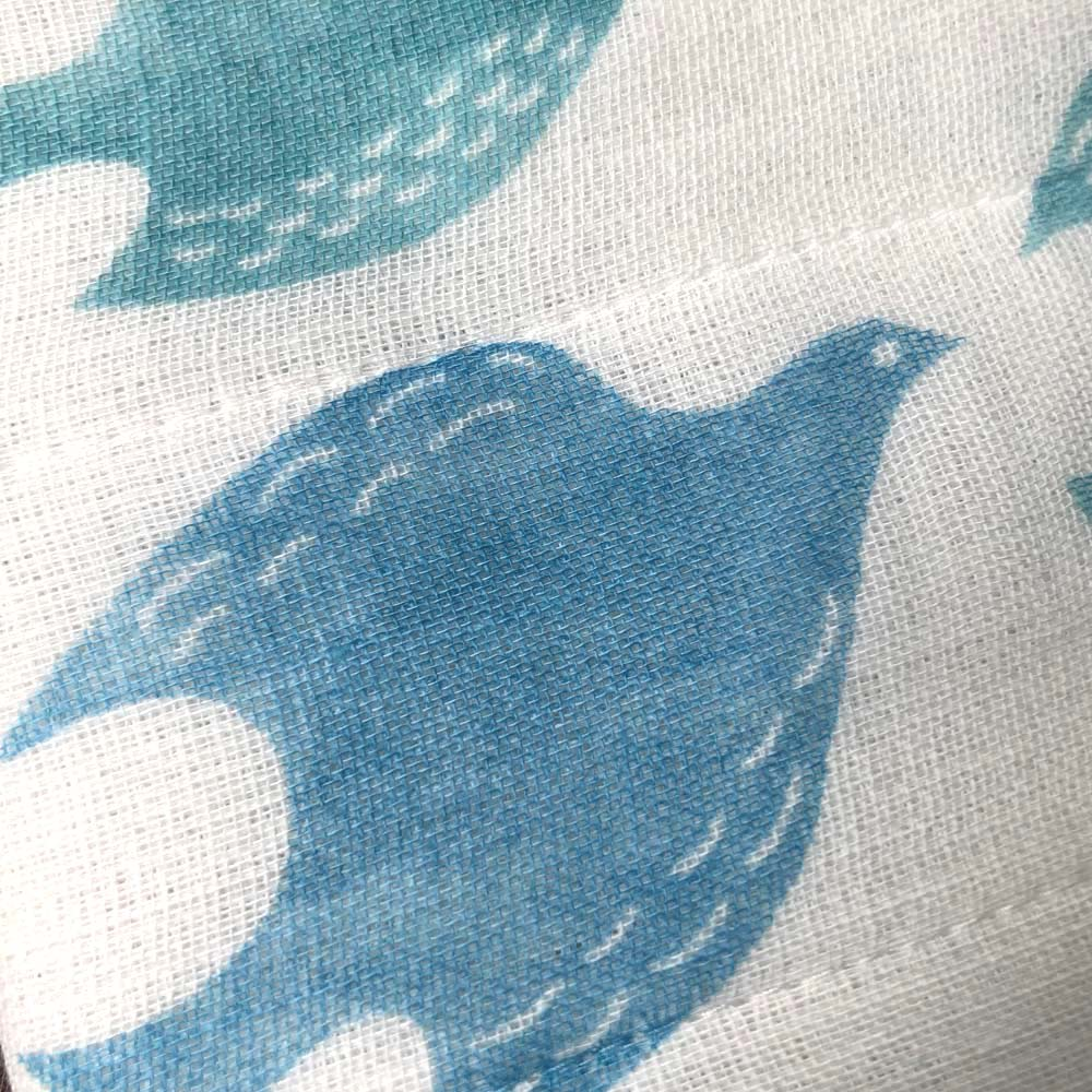 しあわせ重ね蚊帳ふきん 3柄セット 青い鳥