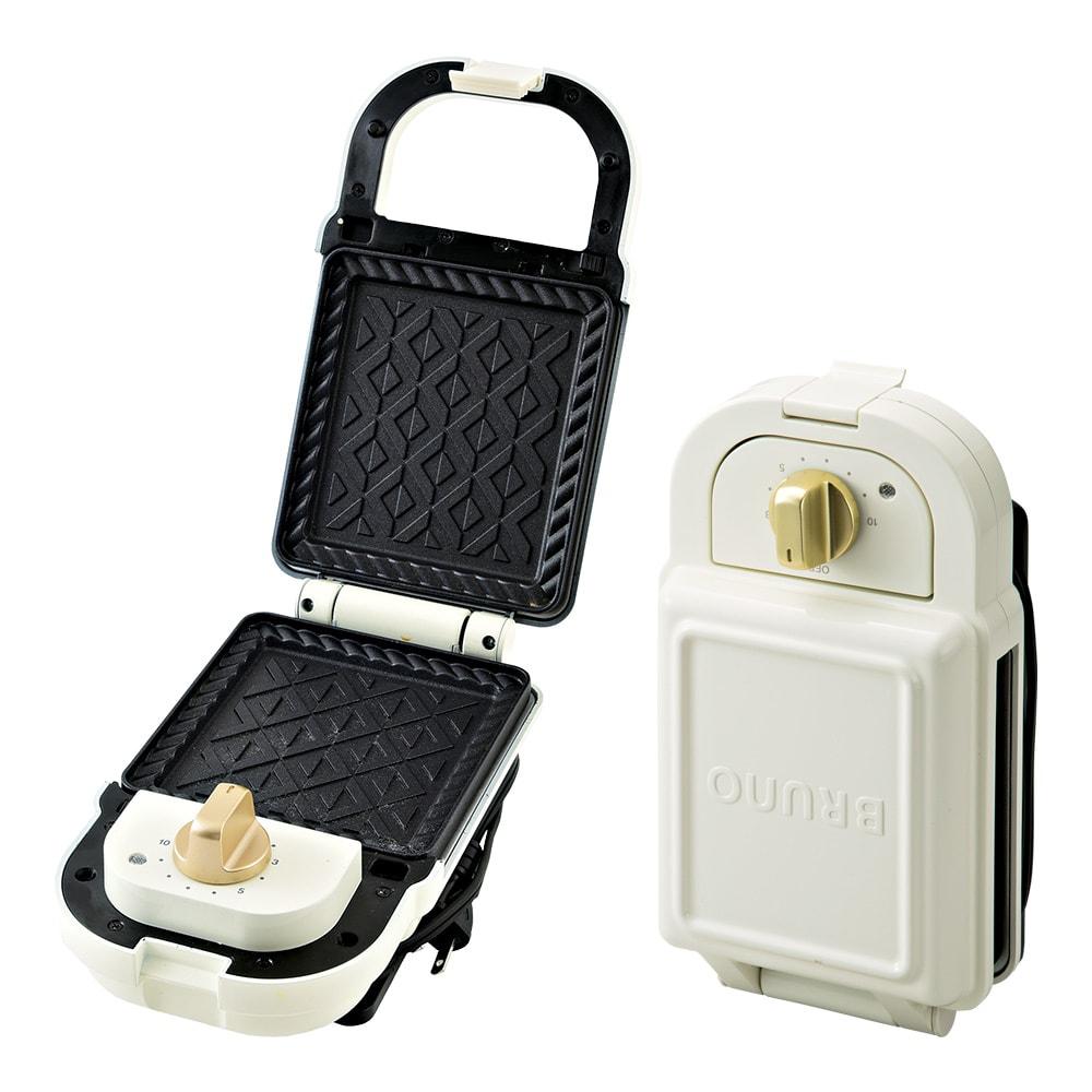 キッチン 家電 調理家電 キッチン家電 BRUNO/ブルーノ 耳ごと焼けるタイマー式ホットサンドメーカー シングル WX0605