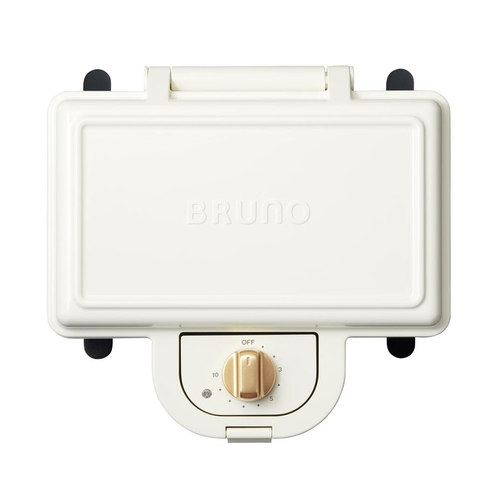 BRUNO/ブルーノ 耳ごと焼けるタイマー式ホットサンドメーカー ダブル (ア)ホワイト