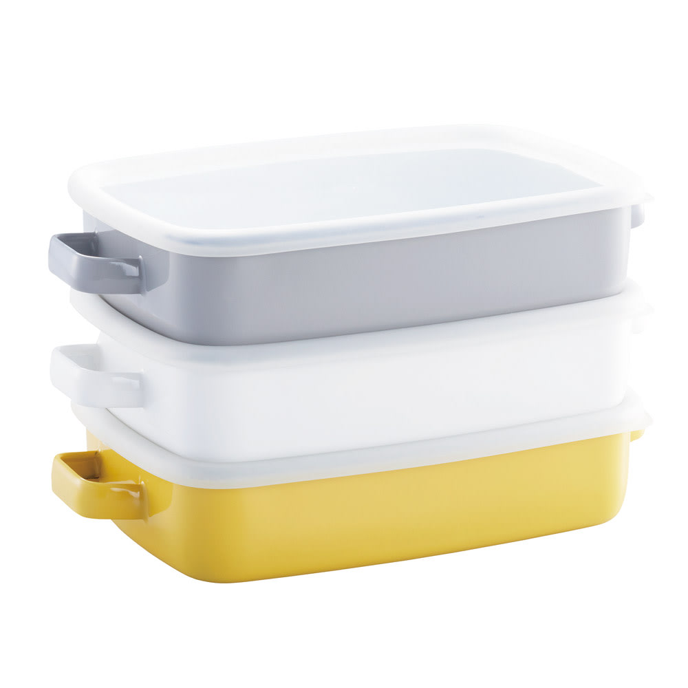 調理もできるホーロー容器 ホーローオーブンディッシュ1個 浅型M 1.6L