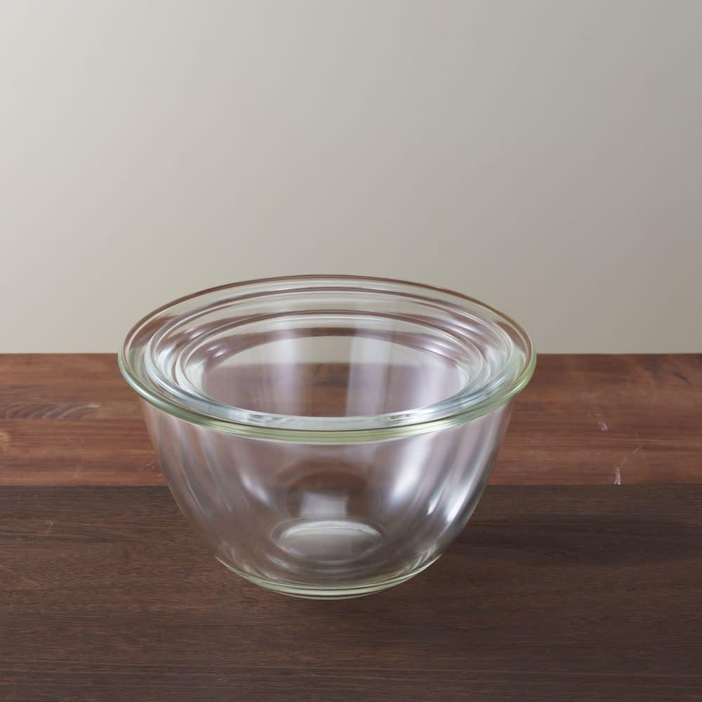HARIO/ハリオ 耐熱ガラス製ボウル3個セット スタッキングできます。