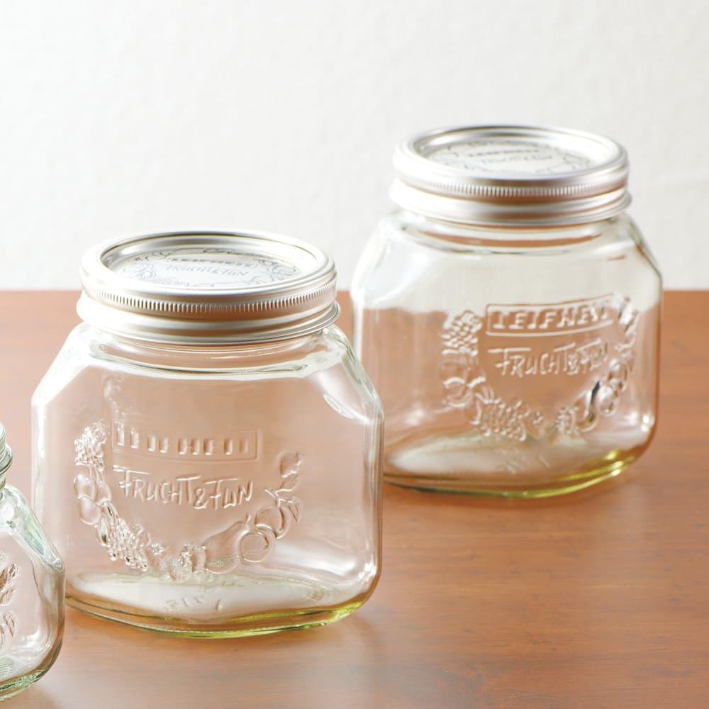 LEIFHEIT ライフハイト プリザーブジャー2個組 750ml ガラスの保存瓶