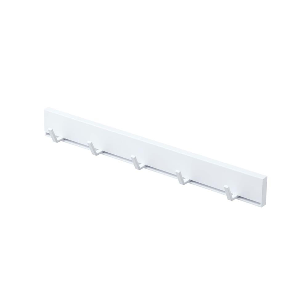 マグネット可動式キッチンツールフック タワー (ア)ホワイト