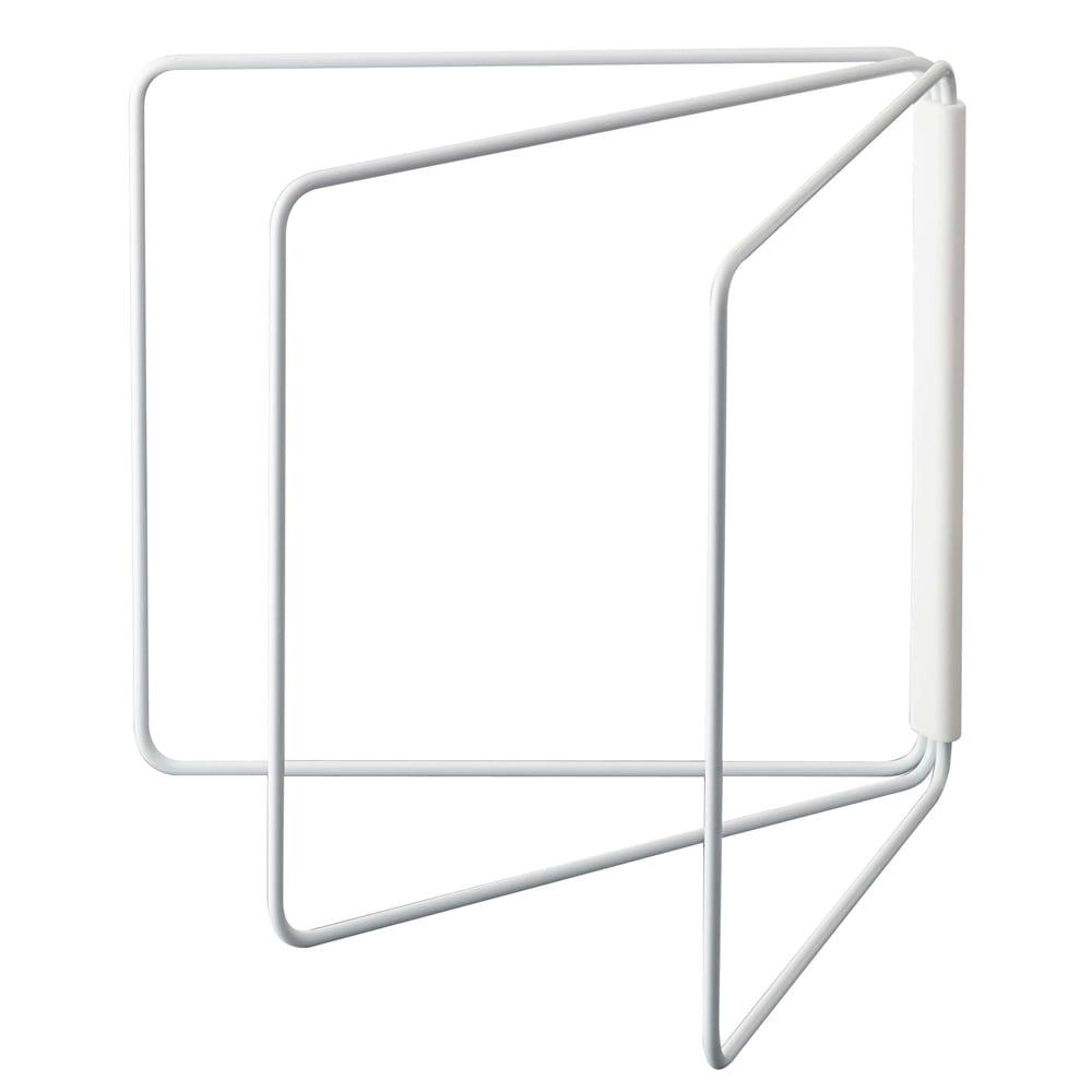 折り畳み布巾ハンガー タワー (ア)ホワイト