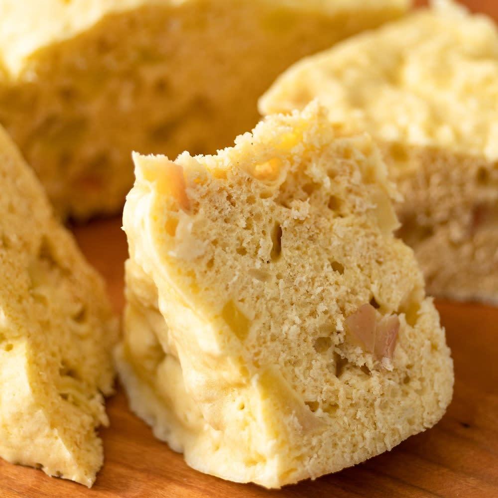 電子レンジだけで調理できる!リビングジャー リンゴとシナモンの蒸しパン