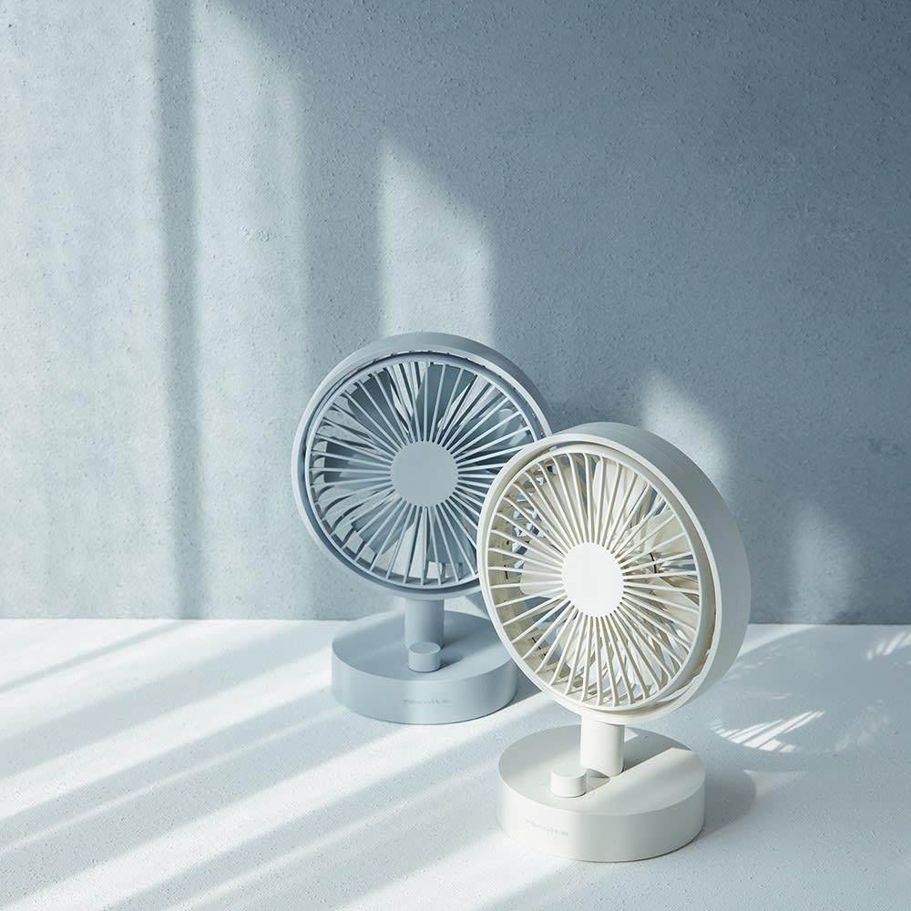 recolte/レコルト キッチンや寝室に!充電式コードレステーブルファン 扇風機 首振りモード搭載
