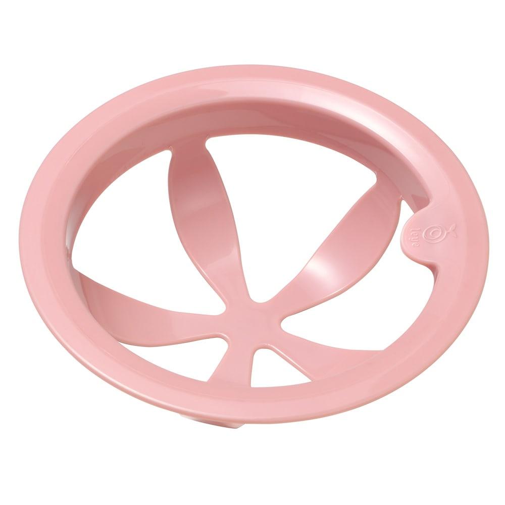 シンク掃除が楽になる排水口ネットホルダー  (ア)ピンク