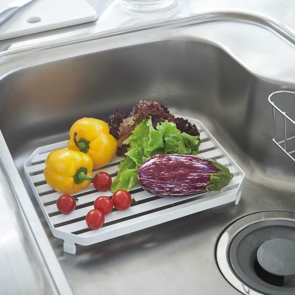 キッチン 家電 キッチン収納 水切り 水切りかご ラック シンク中多機能水切りトレー タワー WX0542