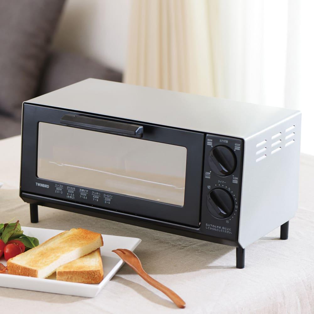 トーストが美味しいコンパクトミラーオーブントースター レッド 【通販】