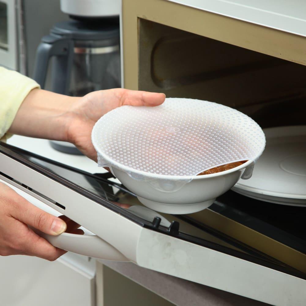 洗って繰り返し使える!シリコンラップ S・M・L 3枚組 電子レンジにも使えます!(耐熱温度170℃)