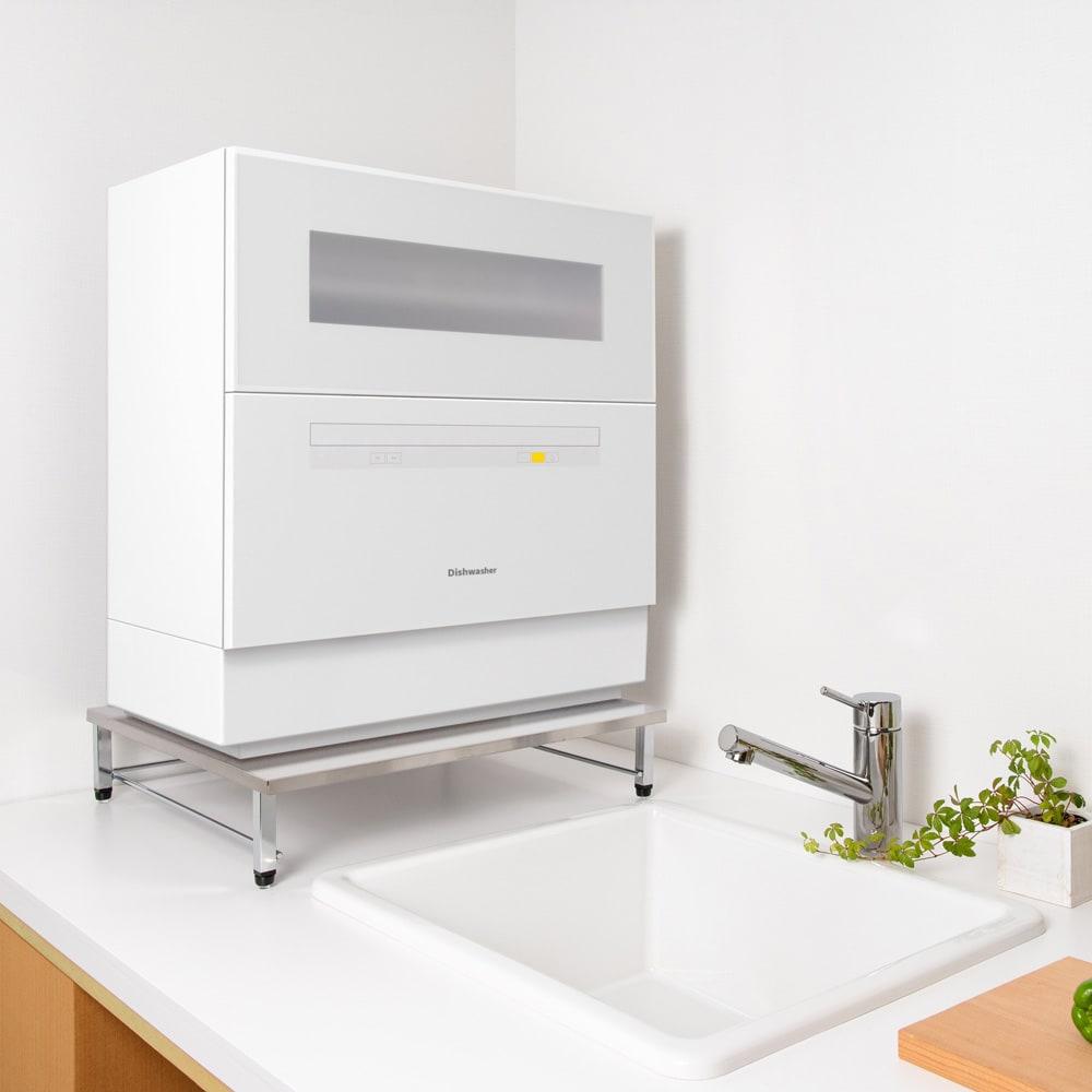 キッチン 家電 キッチン収納 水切り シンク下 コンロまわり収納 ステンレス天板食洗機ラック WX0871