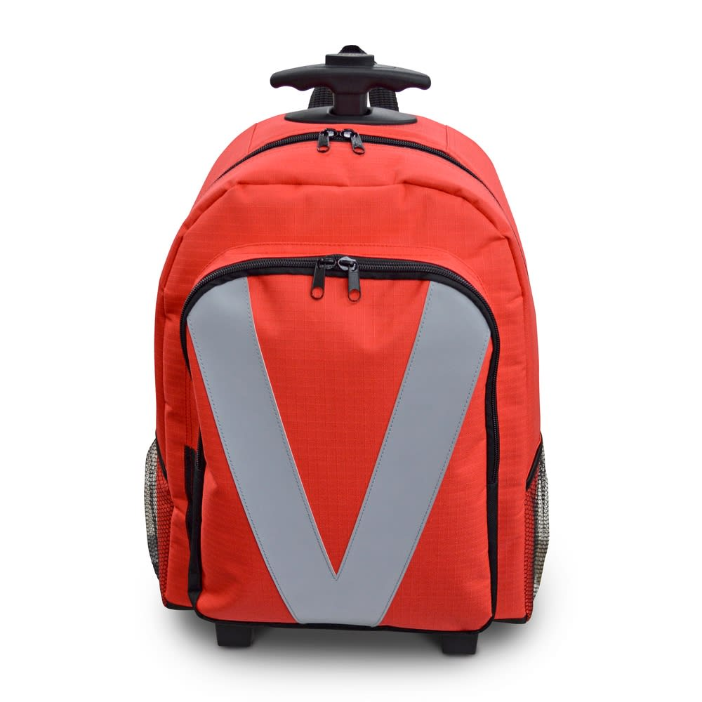 EX.48 サバイバルローラーバッグ ニューコンパック 引いて転がす・背負う・持つ、どんな運び方もできます。