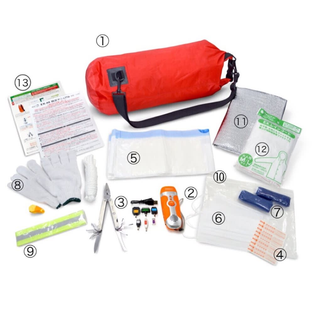 EX.48 防水マルチキャリーバッグ 充実のラインナップ ※5はお届け内容が異なります。ポリバッグ・凝固剤の組み合わせタイプ 3セットのお届けになります