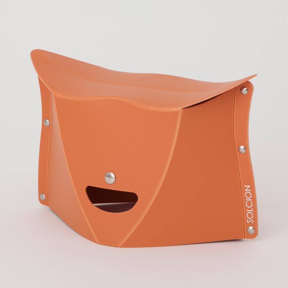 折りたためて持ち運べる椅子【パタット PATATTO 180】同色2個セット (イ)テラコッタ